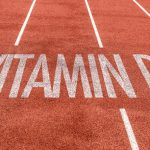 Vitamin D written on running track